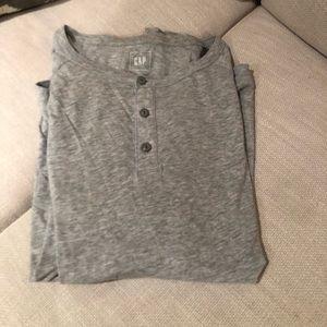 Gap gray Henley shirt